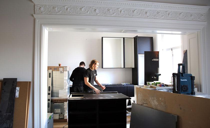 petra tungården renovering köket