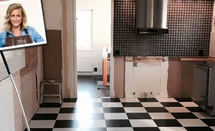 Rivningen av vårt kök är nu ett faktum!