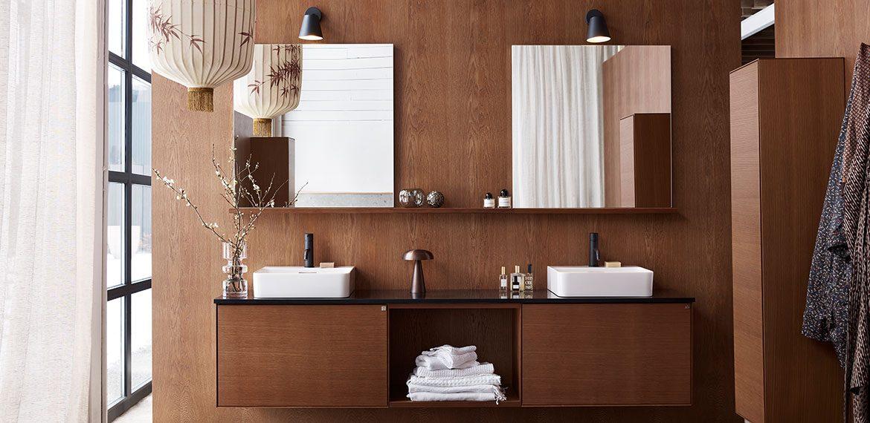 Vackra badrumsmöbler i trä – Vanity